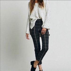 Free people charcoal grey trousers